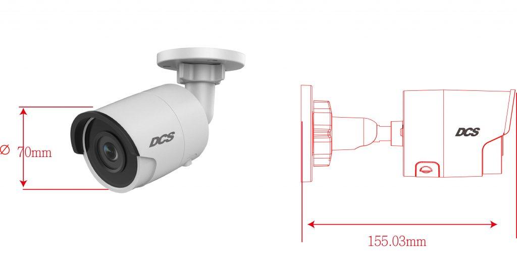 400萬畫素室內外槍型紅外線網路攝影機