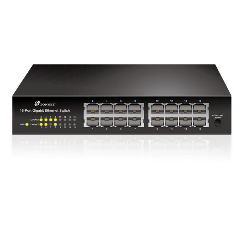 16埠桌上型無網管網路交換器